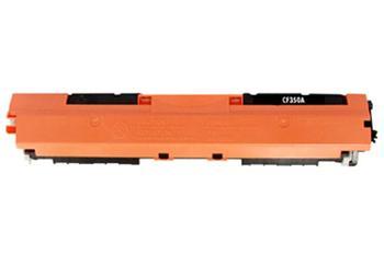 HP CF350A - kompatibilní.  Černá tonerová kazeta 130A CF350A kompatibilní tonerová. Vytiskne přibližně 1300 stran A4 při 5% pokrytí.