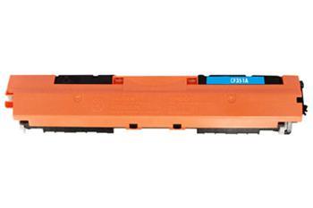 HP CF351A - kompatibilní,Azurová tonerová kazeta 130A CF351A kompatibilní tonerová. Vytiskne přibližně 1000 stran A4 při 5% pokrytí.