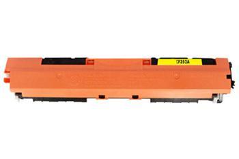 HP CF352A - kompatibilní, Žlutá tonerová kazeta 130A CF352A kompatibilní tonerová. Vytiskne přibližně 1000 stran A4 při 5% pokrytí.