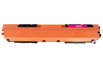 HP CF353A - kompatibilní, Purpurová tonerová kazeta 130A CF352A kompatibilní tonerová. Vytiskne přibližně 1000 stran A4 při 5% pokrytí.