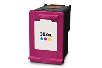 F6U67AE (302XL C) inkoustová kazeta NEW CHIP, barva náplně azurová/purpurová/žlutá, 330 stran