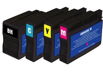 Purpurová inkoustová kazeta CN055 (No.933 XL). Vytiskne přibližně 1000 stran A4 při 5% pokrytí.